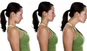 收脖子運動