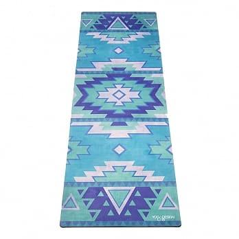 【Yoga-Design-Lab】Combo-Mats-Tribal-Blue